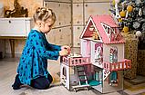 """Кукольный домик NestWood """"МИНИ КОТТЕДЖ"""" для кукол LOL (ЛОЛ) , 5 комнат (этаж 20см) + мебель 9 ед, фото 7"""