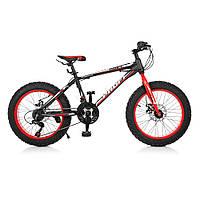 """Велосипед 20 д. EB20POWER 1.0 S20.1 сталь.рама 13"""",Shimano 18SP,алюм.DB,алюм.обод, 20""""*4.0, че"""