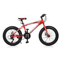 "Велосипед 20 д. EB20POWER 1.0 S20.4 сталь.рама 13"",Shimano 18SP,алюм.DB,алюм.обод,20""*4.0,крас"