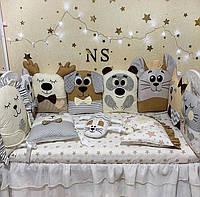 Бортики в кроватку для новорожденного, детское постельное белье для мальчика и для девочки
