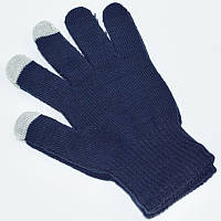Сенсорные розовые перчатки для смартфонов TouchGlove СИНИЕ