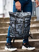 Рюкзак Rolltop BEZET Grey camo'19  One Size