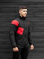 Осенняя куртка BEZET Hooligan black/red'19   One Size