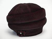 Зимняя женская шляпа Боярка искусственная нерпа