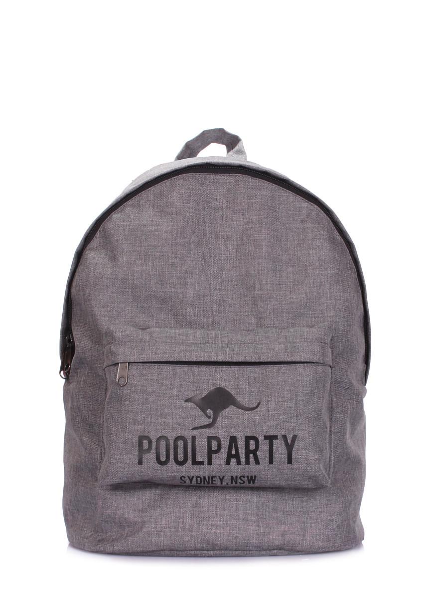 Рюкзак молодежный POOLPARTY повседневный серый