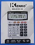 Калькулятор настільний Kenko KK-8151-12, фото 3