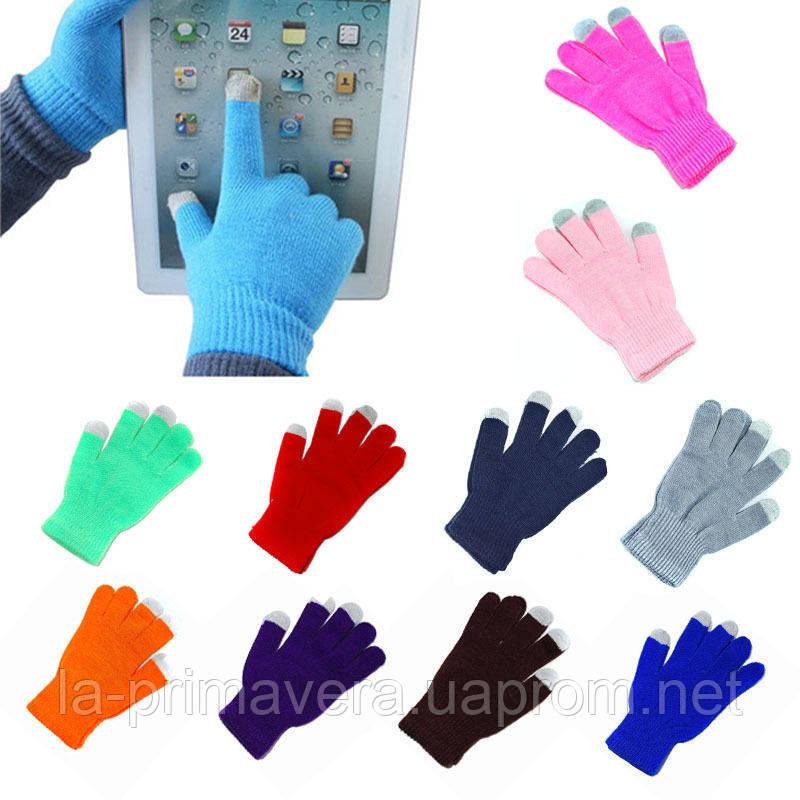 Сенсорные розовые перчатки для смартфонов TouchGlove ОРАНЖЕВЫЕ