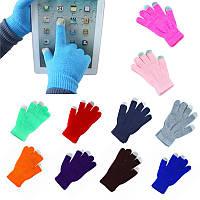 Сенсорные розовые перчатки для смартфонов TouchGlove ОРАНЖЕВЫЕ, фото 1