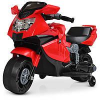 Мотоцикл M 4160-3  1аккум25W, 1аккум6V4AH, музыка, свет, красный