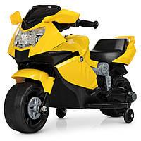 Мотоцикл M 4160-6 1мотор25W, 1аккум6V4AH, музыка, свет, желтый