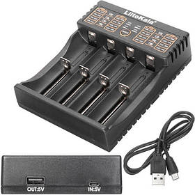 Умное зарядное устройство Liitokala Lii-402 Li-ion 18650 Ni-MH, 4 канала