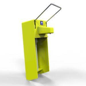 Дозатор ліктевий «МЗС-01К» з захисною кришкою і замком. Колір жовтий, фото 2