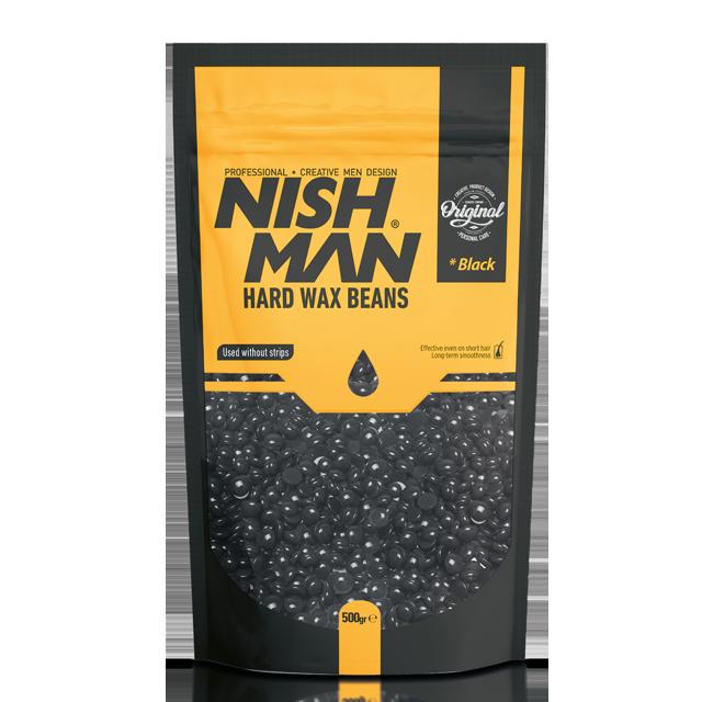 Воск Для Депиляции В Гранулах Nishman Professional HARD WAX BEANS (Черный) 500 г