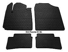 Коврики в салон резиновые Stingray KIA Picanto III 2016