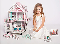 """Кукольный домик NestWood """"МИНИ КОТТЕДЖ"""" для кукол LOL на подставке с колесиками"""