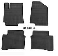 Резиновые автомобильные коврики в салон KIA RIO III 2011 киа рио Stingray