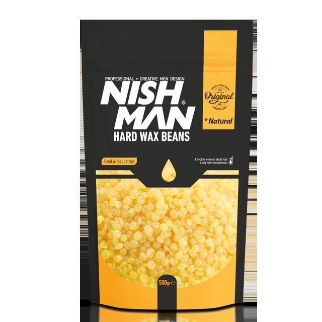 Воск для депиляции в гранулах Nishman Professional Hard Wax Beans Natural 500г