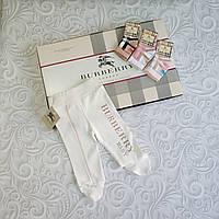 Хлопковые ползунки, штанишки Burberry, фото 1