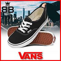 Кеды Vans (Ванс, Вансы) Authentic. / Стильные низкие кеды Ванс (черно - белые)