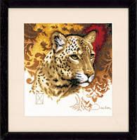 """Набор для вышивки крестом LanArte """"Леопард"""""""