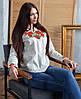 Вышитая женская рубашка бежевая (размеры S-3XL), фото 4