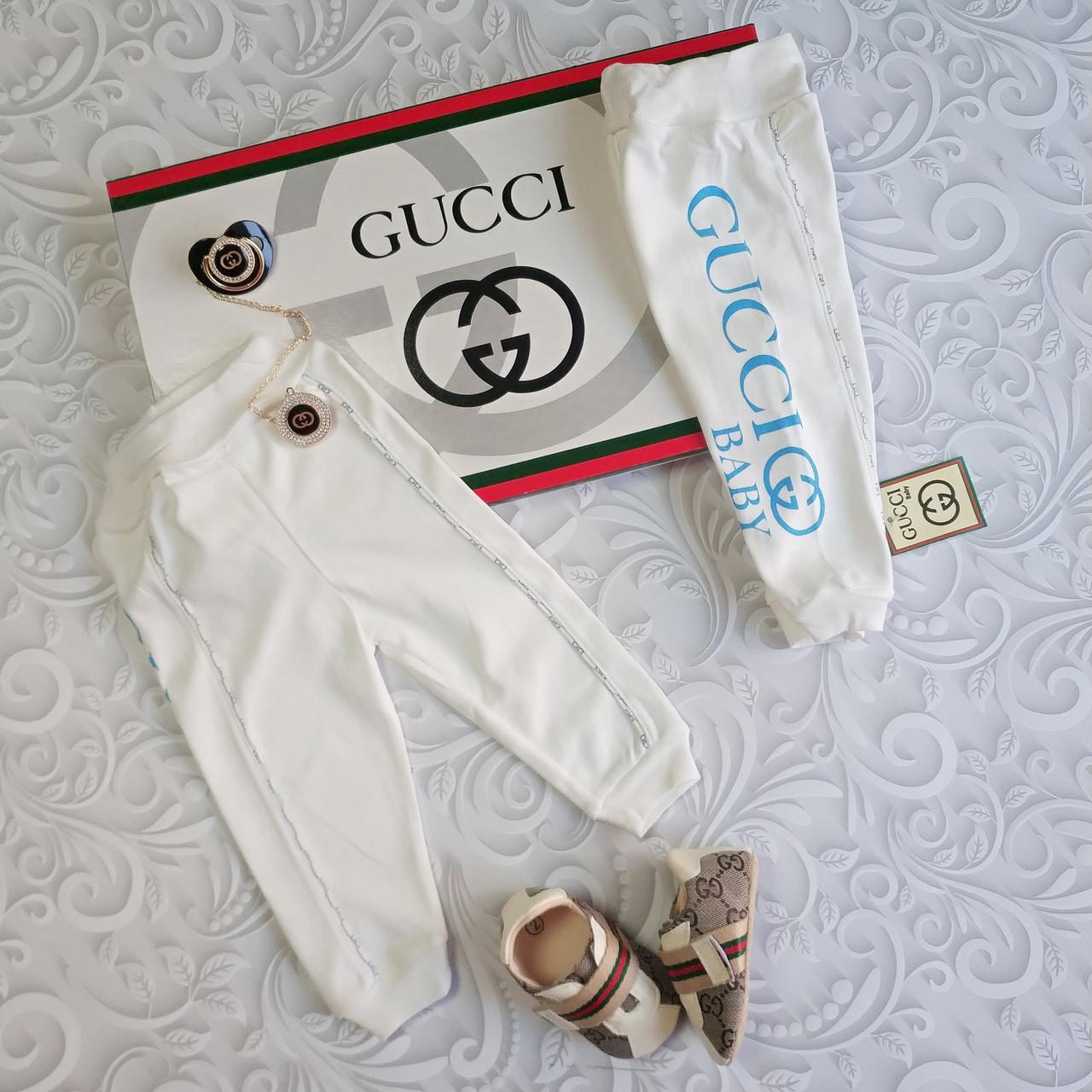 Хлопковые ползунки Gucci, штаны для новорожденных