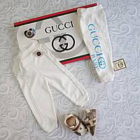 Хлопковые ползунки Gucci, штаны для новорожденных, фото 1