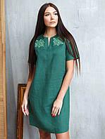 Этническое платье вышитое, из 100% льна (XS-3XL)