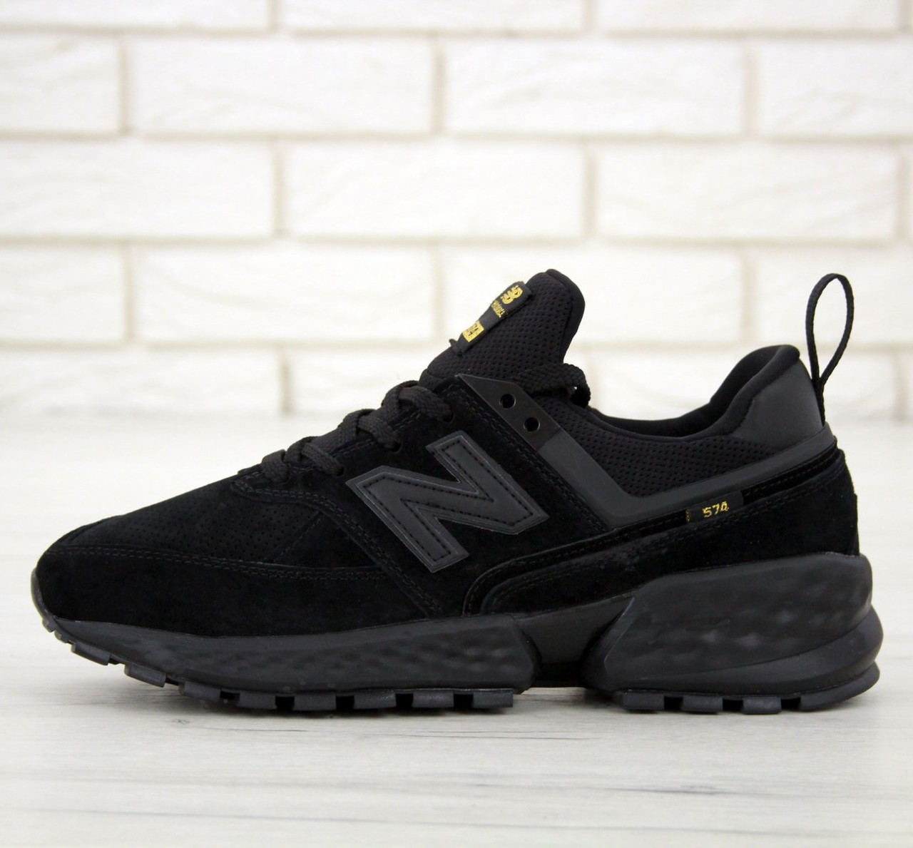 Женские кроссовки New Balance 574 Sport v2 Black, нью беленс черные