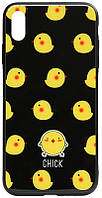 TOTO Cartoon Print Glass Case Apple iPhone X/XS Chick
