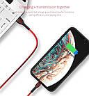 ОПТ Дата кабель синхронізації GOLF GC-74 Double Color iPhone Lightning 1 м для заряджання і передачі даних, фото 8