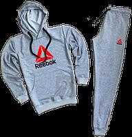 Трикотажный спортивный костюм Reebok (рибок) светло-серый