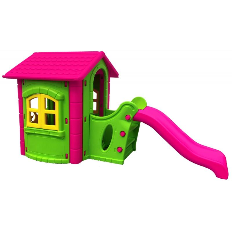 Игровой детский домик PLAY HOUSE с горкой