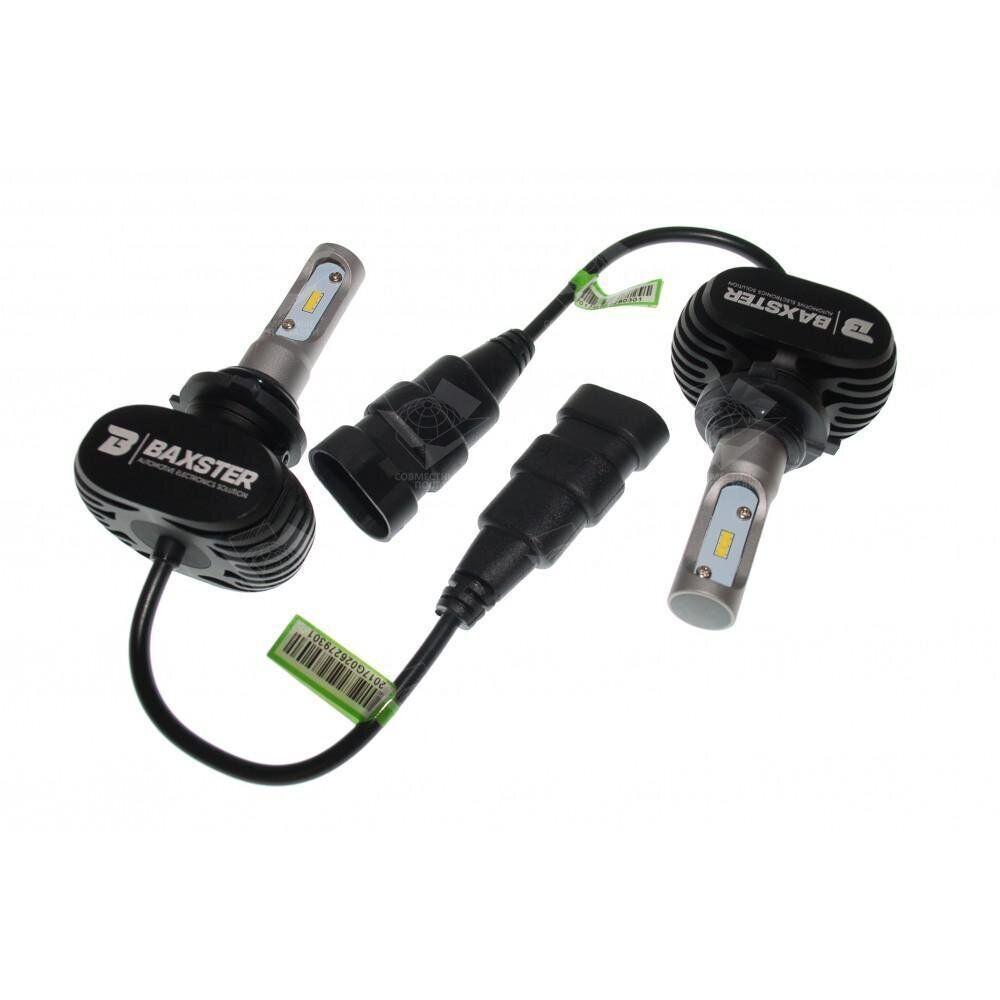 Комплект LED ламп BAXSTER S1 HB4(9006) 6000K 4000lm с радиатором