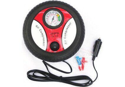 Компрессор автомобильный КВАНТ RH-016 12В с аналоговым датчиком давления (колесо)