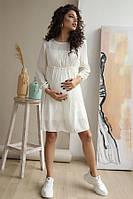 Платье для беременных и кормящих To be 1392 белое, фото 1