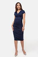 Платье-футляр для беременных и кормящих Milk and the city темно-синее