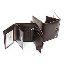Натуральная кожаный мужской кошелек Dr.BOND М24 коричневый, фото 2