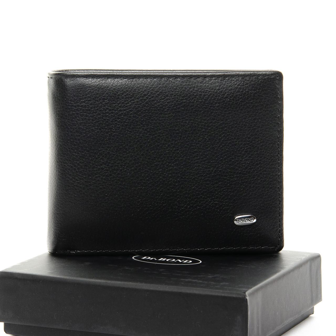 Чорний чоловічий шкіряний гаманець Dr.BOND Msm-1