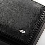 Чорний чоловічий шкіряний гаманець Dr.BOND Msm-1, фото 3