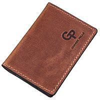 Обложка для ID-паспорта из натуральной кожи GRANDE PELLE 11235 Коричневая, Коричневый