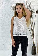 Летняя блузка без рукавов Rong Rong - белый цвет, S (есть размеры), фото 1
