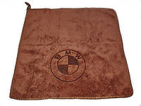 Рушник для автомобіля з логотипом мікрофібра 30 х 30 см BMW