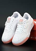 Женские кроссовки Puma Cali White (Пума Кали белые)