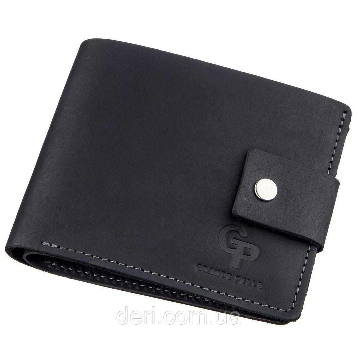 Компактное мужское портмоне в винтажном стиле с монетницей внутри
