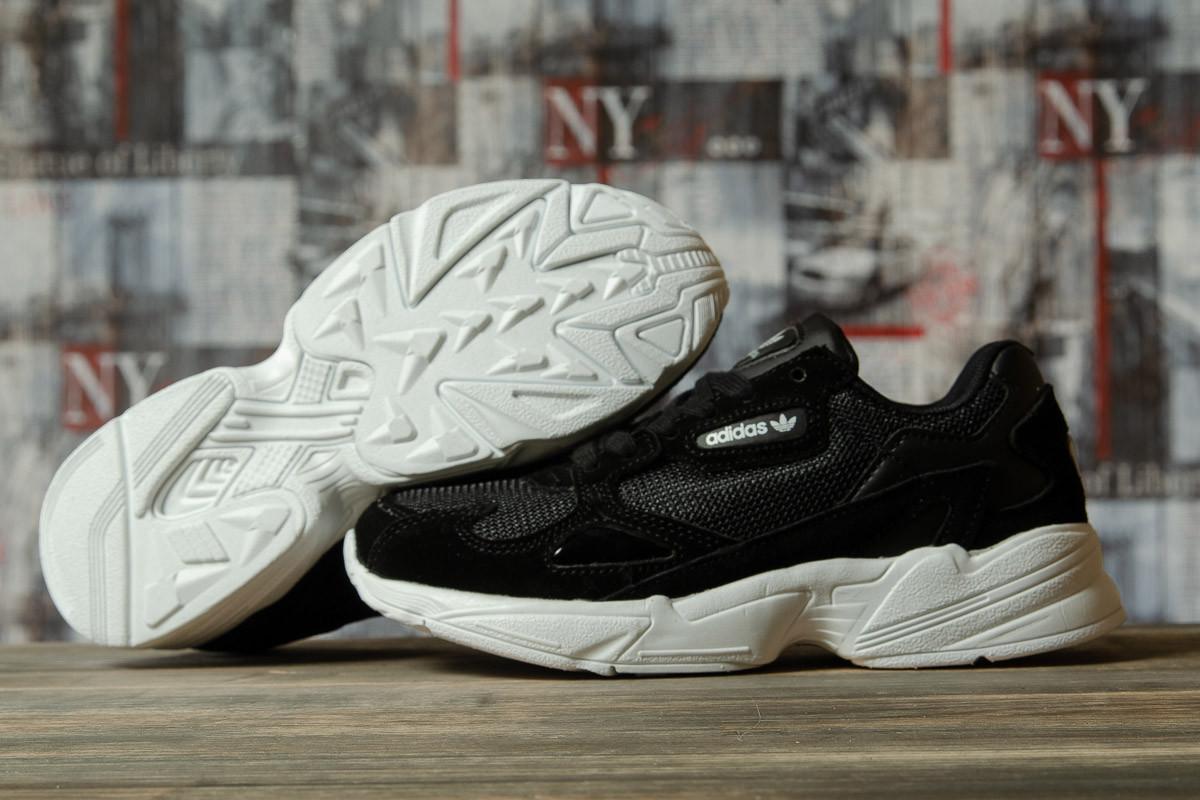 Кроссовки женские 16741, Adidas Falcon, черные, < 36 > р. 36-23,0см.