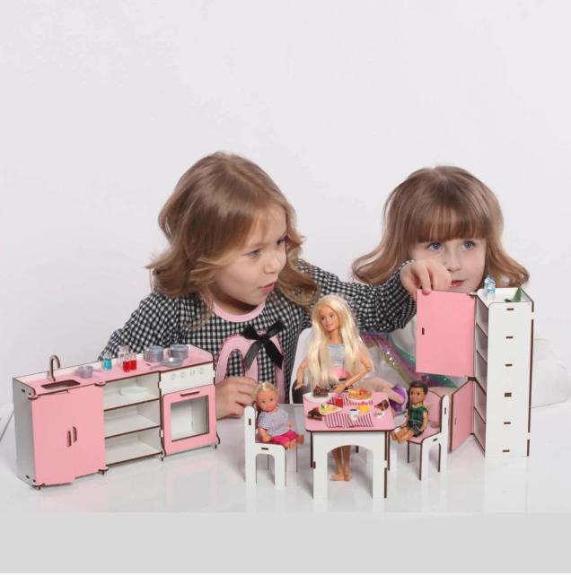 Мебель для кукольного домика Барби NestWood (КУХНЯ)