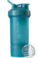 Шейкер спортивный BlenderBottle ProStak 650 мл с 2 контейнерами Teal (PS 22oz Teal)