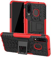 Чехол-накладка TOTO Dazzle Kickstand 2 in 1 Case Samsung Galaxy A30s/A50/A50s Red #I/S, фото 1