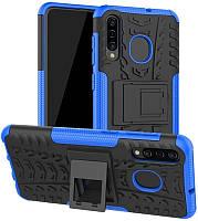 Чехол-накладка TOTO Dazzle Kickstand 2 in 1 Case Samsung Galaxy A30s/A50/A50s Blue #I/S, фото 1